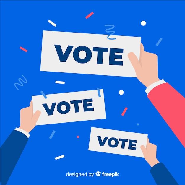 Composizione elettorale presidenziale con design piatto Vettore gratuito