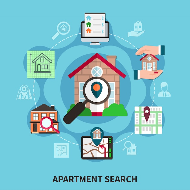 Composizione immobiliare Vettore gratuito