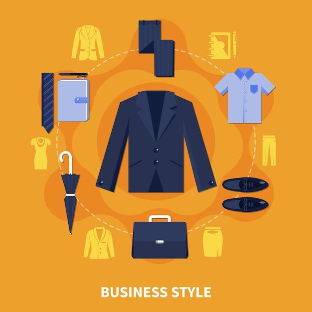 Composizione in stile business Vettore gratuito