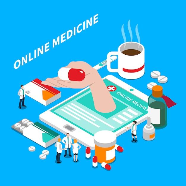 Composizione isometrica in medicina online Vettore gratuito