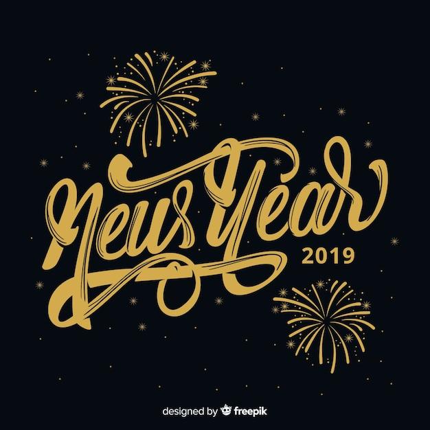 Composizione moderna del nuovo anno con stile elegante Vettore gratuito