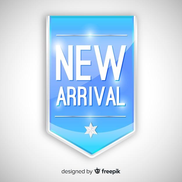 Composizione moderna nuovo arrivo con un design realistico Vettore gratuito