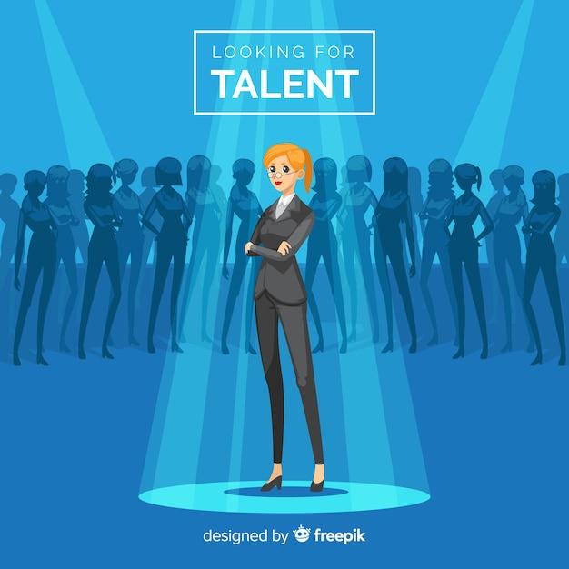 Composizione moderna per la ricerca di talenti Vettore gratuito