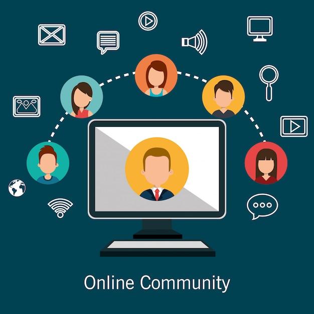 Comunità online Vettore gratuito