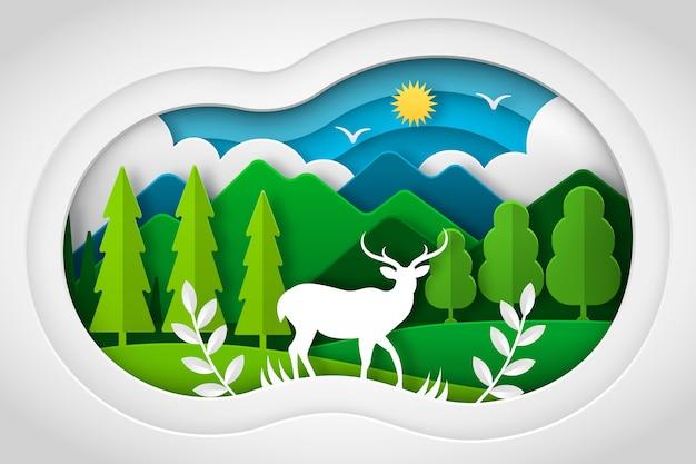 Concetto ambientale in stile carta Vettore gratuito