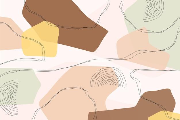 Concetto astratto sfondo pastello Vettore gratuito