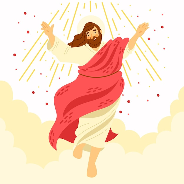 Concetto biblico del giorno dell'ascensione Vettore gratuito