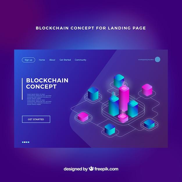 Concetto Blockchain per la pagina di destinazione Vettore gratuito