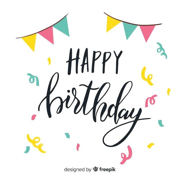 Concetto creativo dell'iscrizione di buon compleanno Vettore gratuito