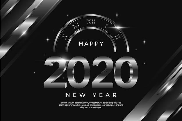 Concetto d'argento del nuovo anno 2020 del fondo Vettore gratuito