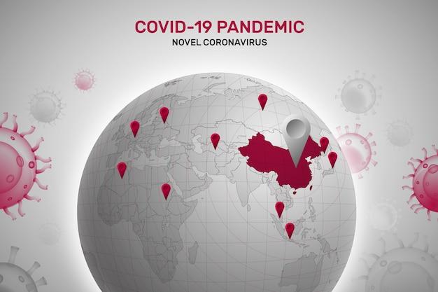 Concetto del globo di coronavirus Vettore gratuito