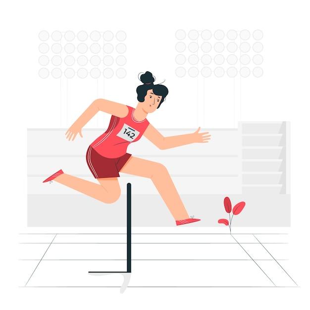 Concetto dell'illustrazione di atletica Vettore gratuito