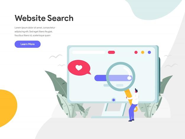Concetto dell'illustrazione di ricerca del sito web Vettore Premium