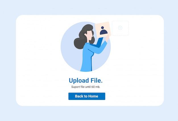 Concetto dell'illustrazione, può usare per, pagina di destinazione, modello, ui Vettore Premium