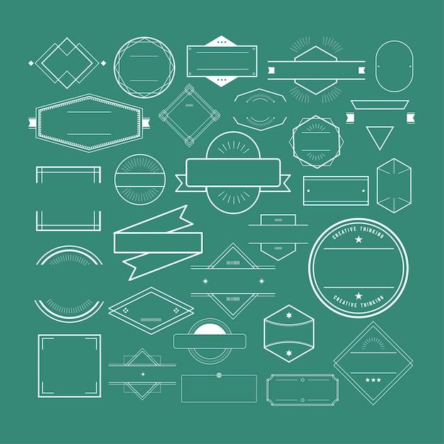 Concetto della raccolta di logo del distintivo di simbolo dell'icona Vettore gratuito