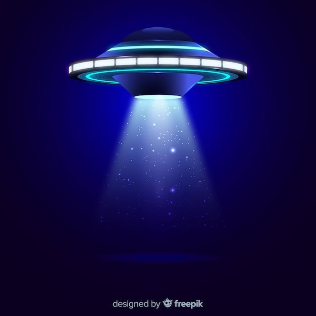 Concetto di abduction ufo con design realistico Vettore gratuito