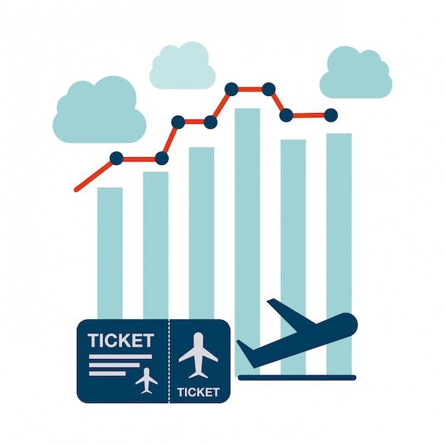 Concetto di aeroplano Vettore Premium