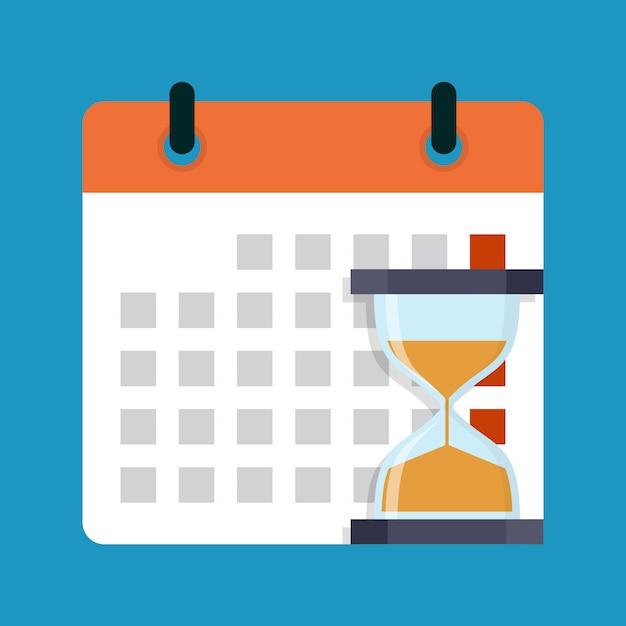 Concetto di affari di scadenza, illustrazione vettoriale design piatto Vettore Premium