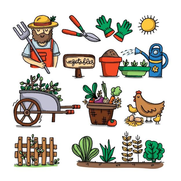 Concetto di agricoltura biologica Vettore gratuito