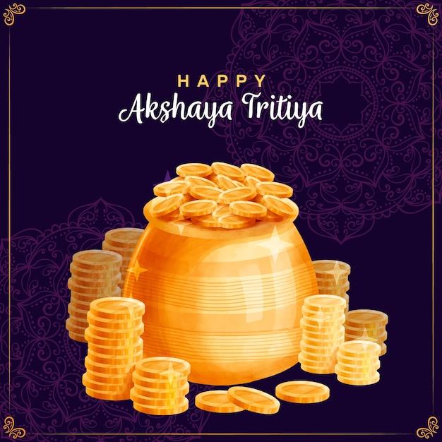 Concetto di akshaya tritiya Vettore gratuito