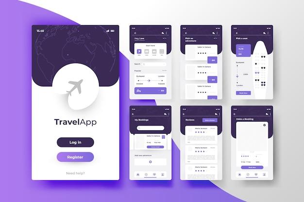 Concetto di app di prenotazione viaggi Vettore gratuito