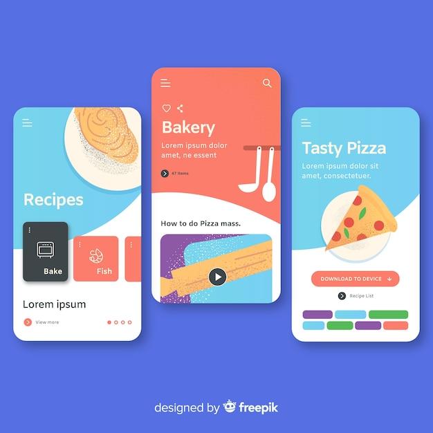Concetto di app mobile disegnata a mano Vettore gratuito