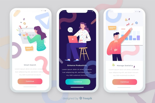 Concetto di app mobile Vettore gratuito