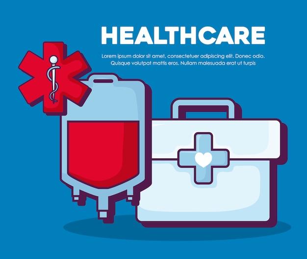 Concetto di assistenza sanitaria Vettore gratuito