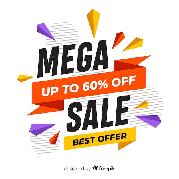 Concetto di banner mega vendita moderna Vettore gratuito