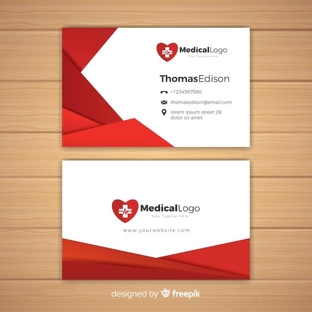 Concetto di biglietto da visita medico professionale Vettore gratuito