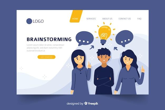 Concetto di brainstorming per landing page Vettore gratuito
