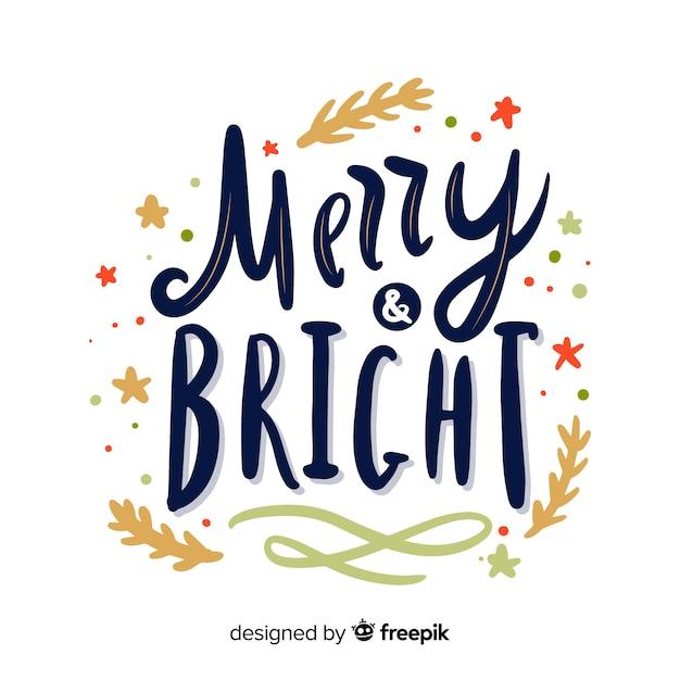 Immagini Con Scritte Di Buon Natale.Concetto Di Buon Natale Con Scritte Scaricare Vettori Gratis