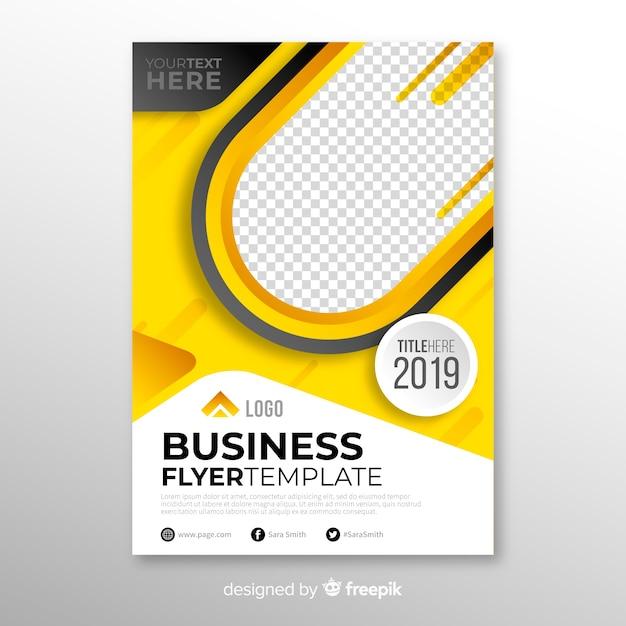 Concetto di business flyer Vettore gratuito