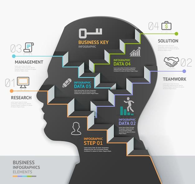 Concetto di business infografica Vettore Premium
