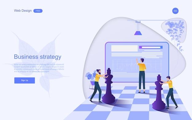 Concetto di business per il marketing strategico. Vettore Premium