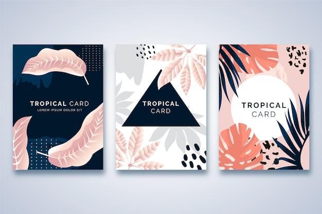 Concetto di carte tropicali astratte Vettore gratuito