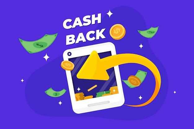 Concetto di cashback creativo illustrato Vettore gratuito