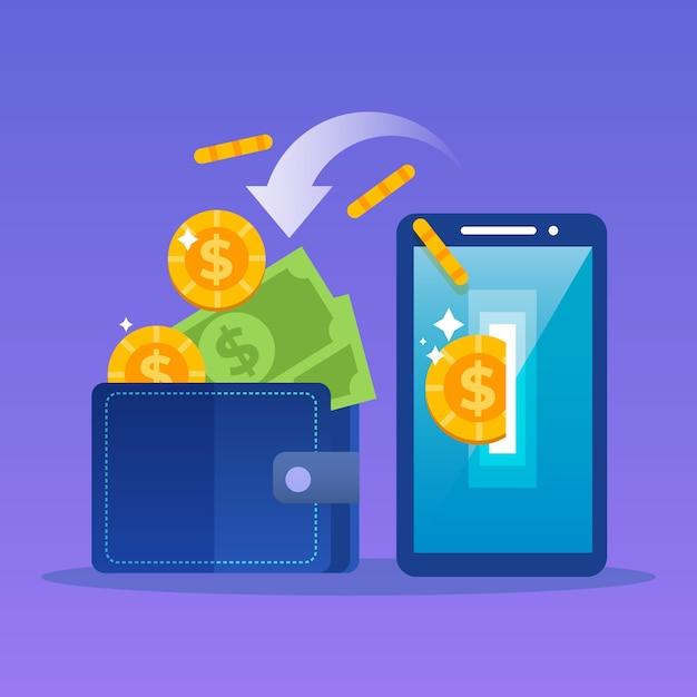 Concetto di cashback Vettore gratuito