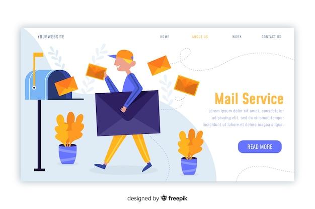 Concetto di cassetta postale per landing page Vettore gratuito