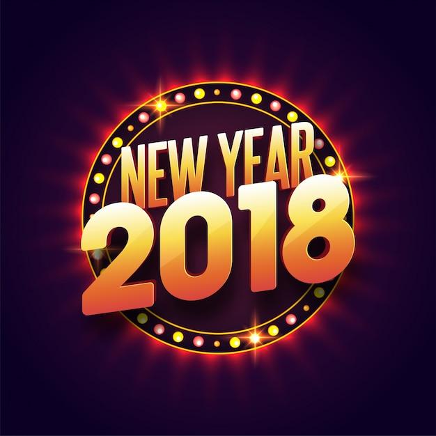Concetto di celebrazioni del nuovo anno 2018 Vettore Premium