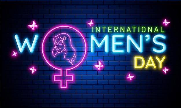 Concetto di celebrazioni della giornata internazionale della donna. Vettore Premium