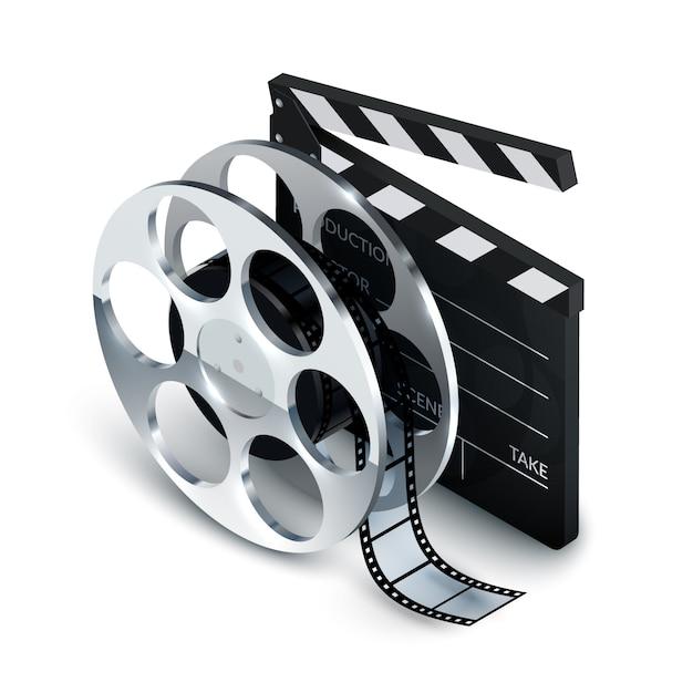 Concetto di cinema Vettore Premium