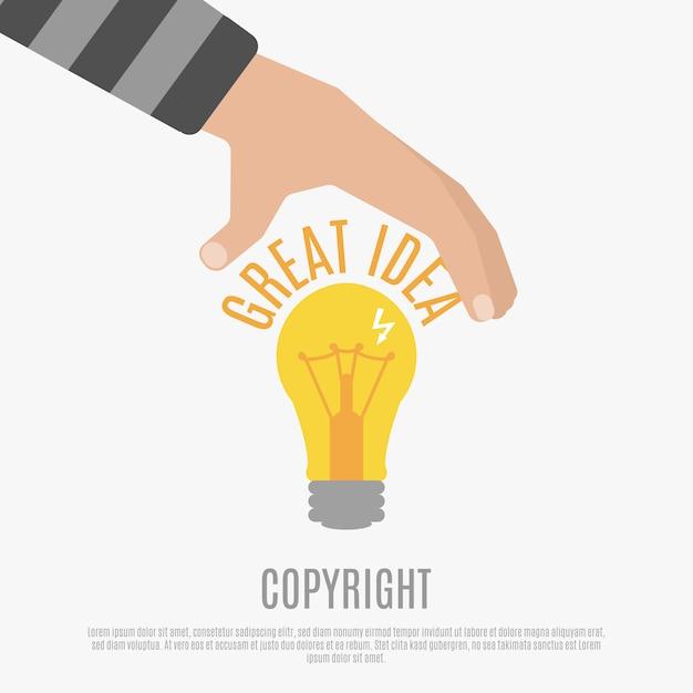 Concetto di conformità del copyright Vettore gratuito