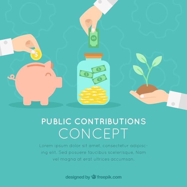 Concetto di contributi pubblici Vettore gratuito