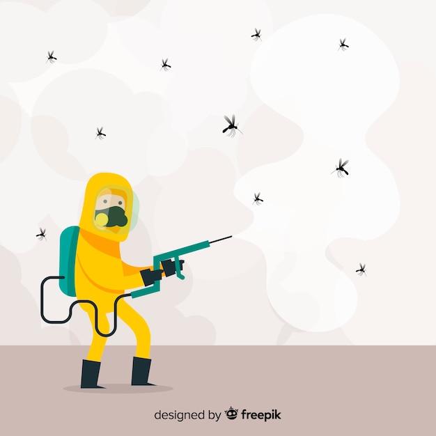 Concetto di controllo della zanzara Vettore gratuito