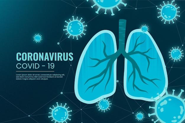 Concetto di coronavirus con polmoni Vettore gratuito
