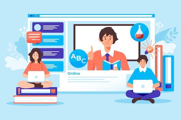 Concetto di corsi online Vettore gratuito