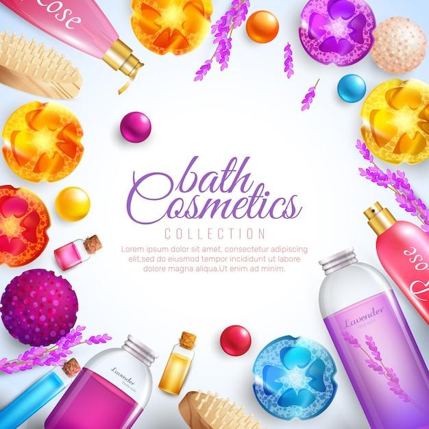 Concetto di cosmetici da bagno Vettore gratuito