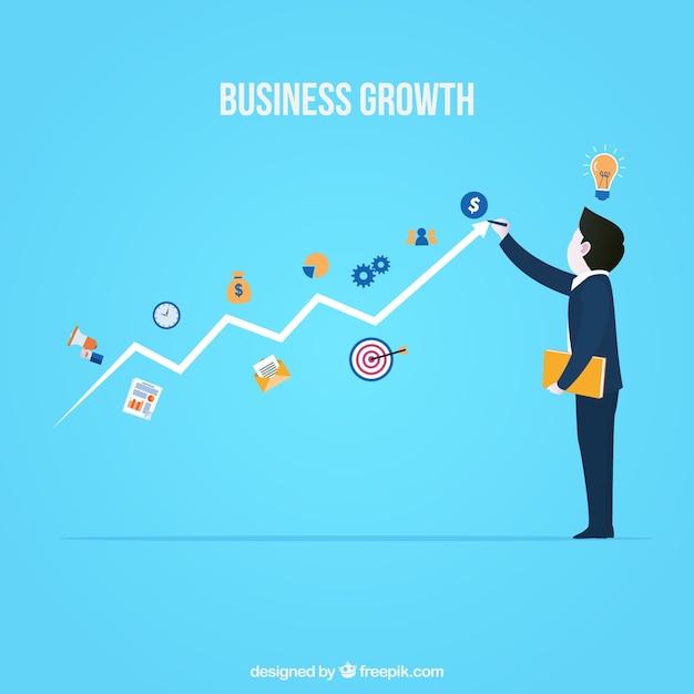Concetto di crescita del business moderno Vettore gratuito