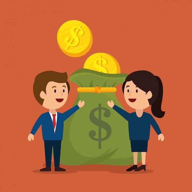 Concetto di denaro Vettore Premium